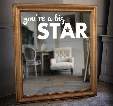 adesivo-specchio-you-are-a-big-star-7378