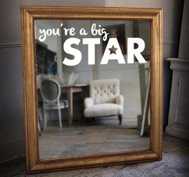 adesivo-specchio-you-are-a-big-star-7378